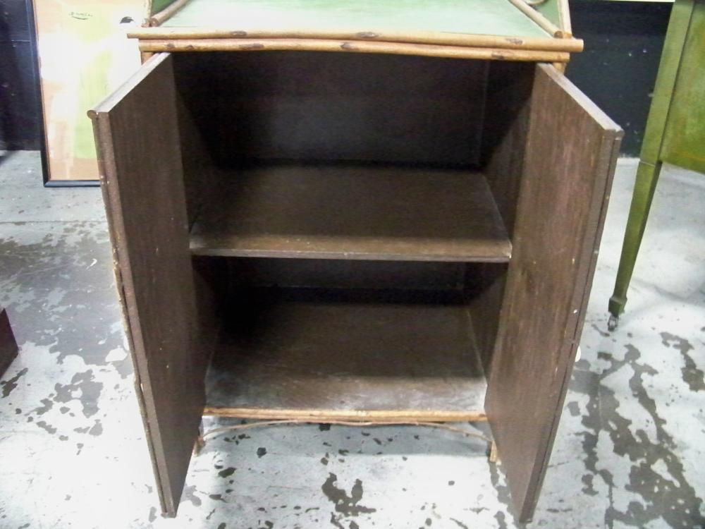 Uniquely Styled Floor Twig Cabinet
