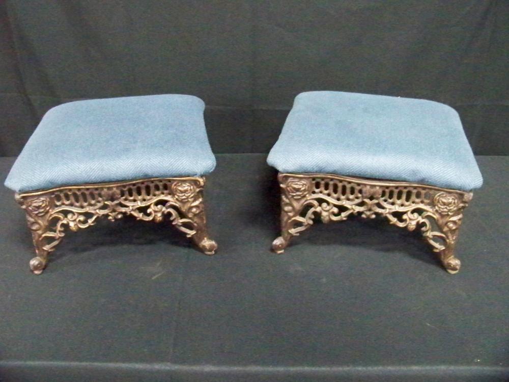 Pair of Iron Footstools