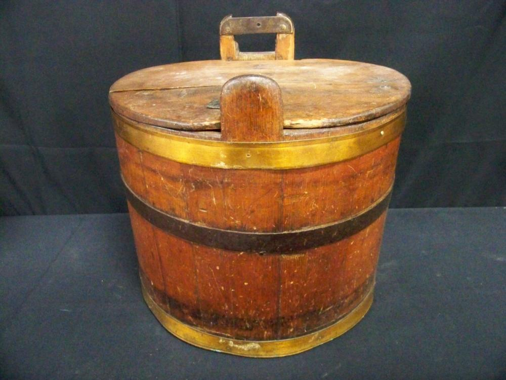 Antique Banded Hanging Bucket