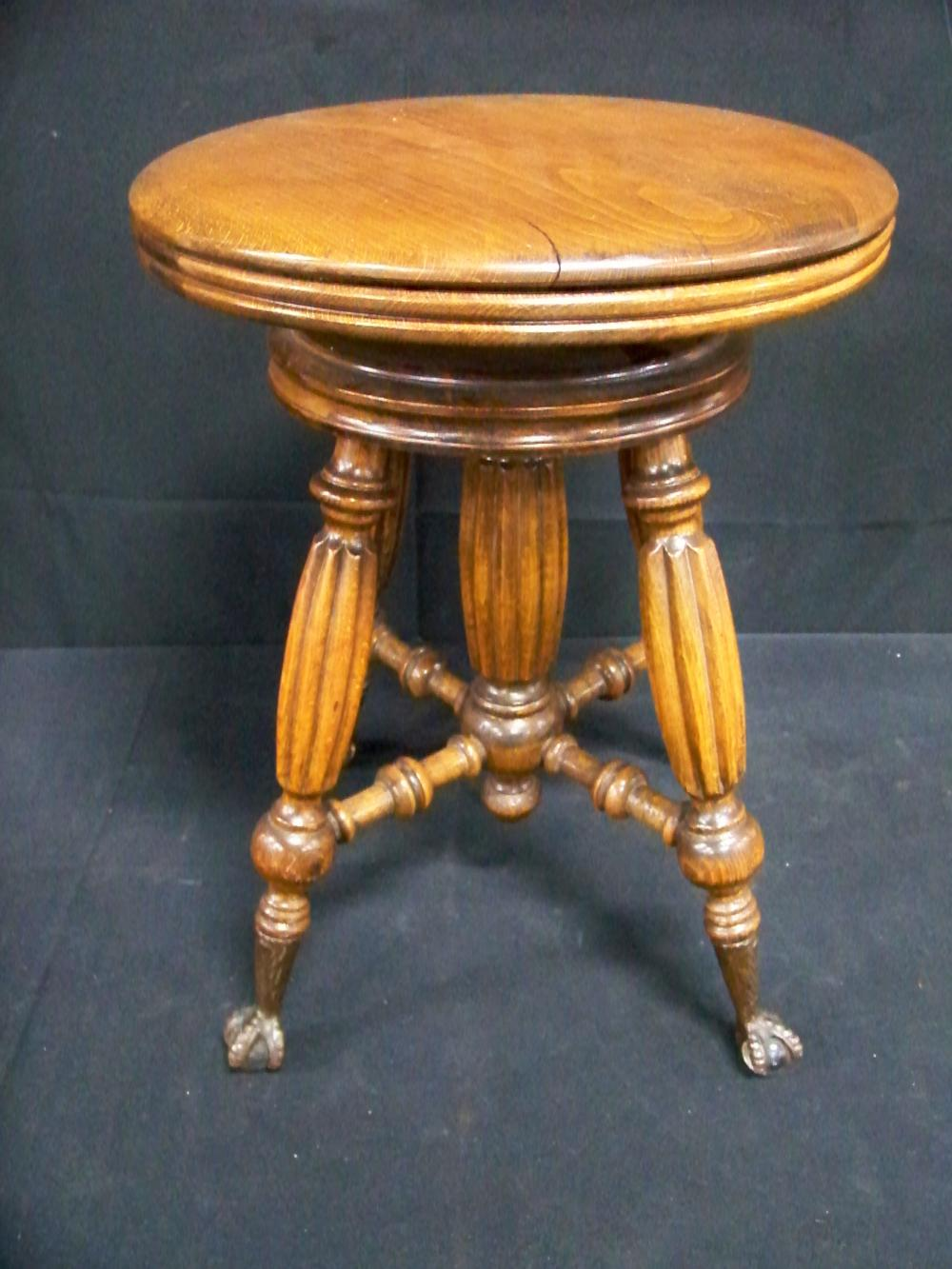 Antique Walnut Organ Stool