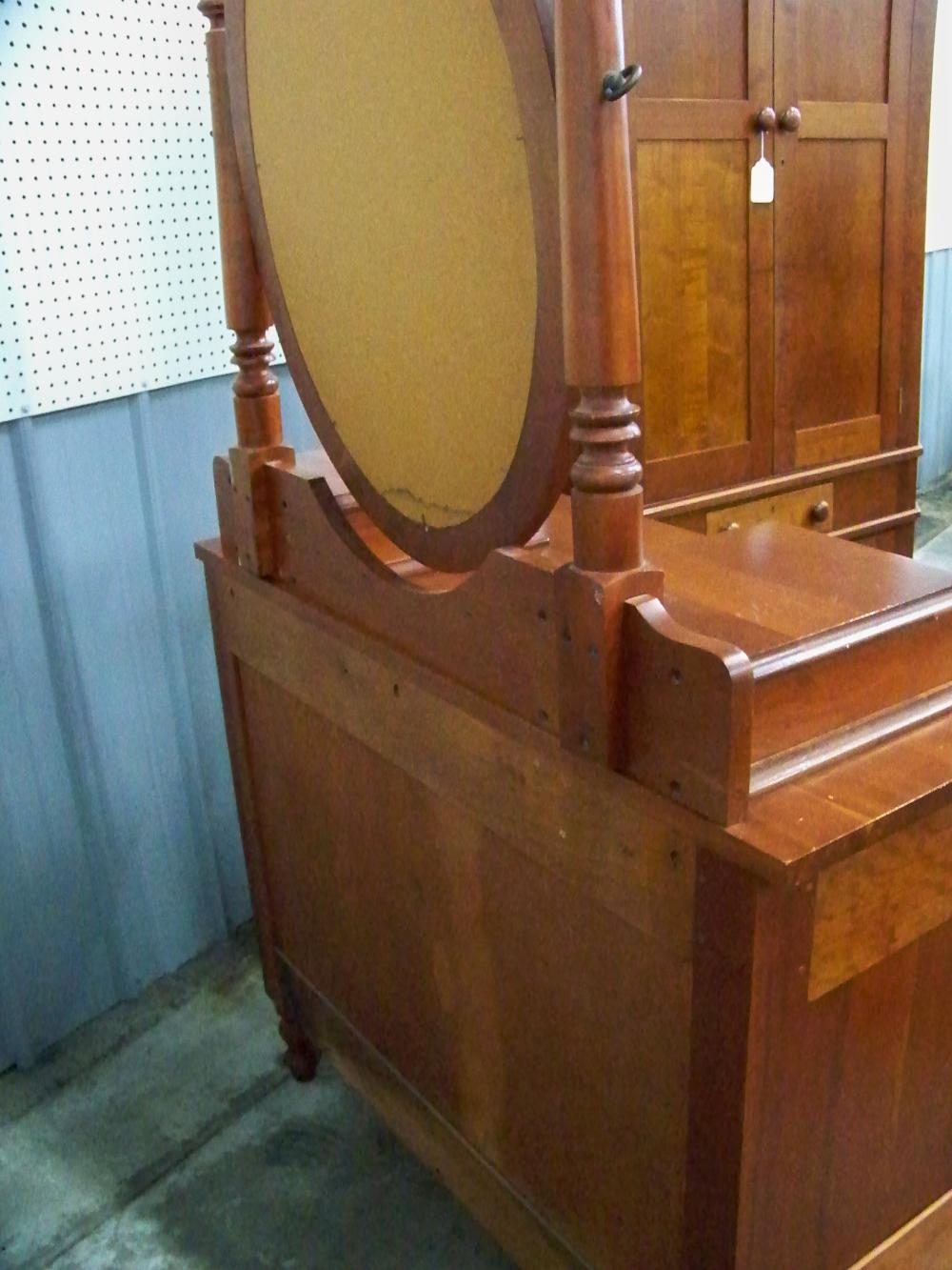 Three Drawer Cherry Chest of Drawers with Mirror