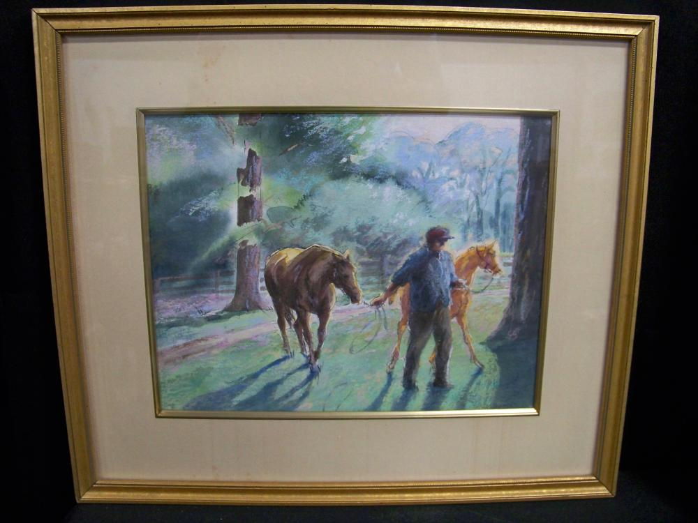 Signed Fay Moore Pastel on Canvas
