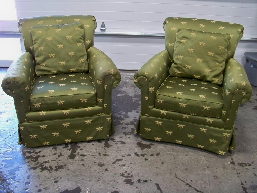 Pair of Jordan Alexander Upholstered Chairs