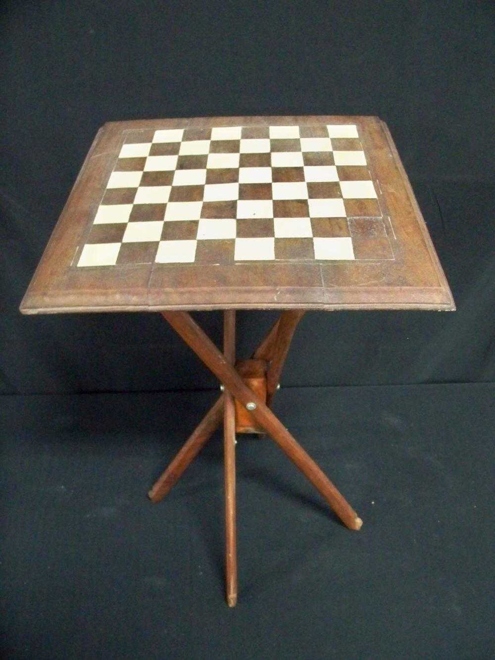 Checkerboard on Four Legged Folding Stand