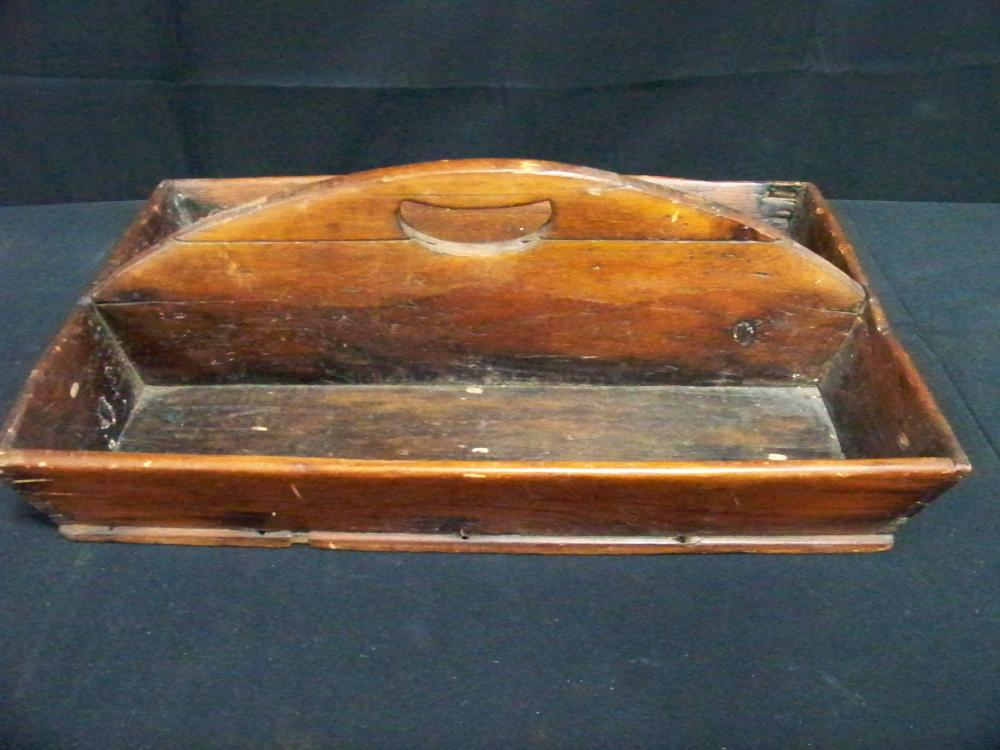 Antique Primitive Carrying Tray with Handle