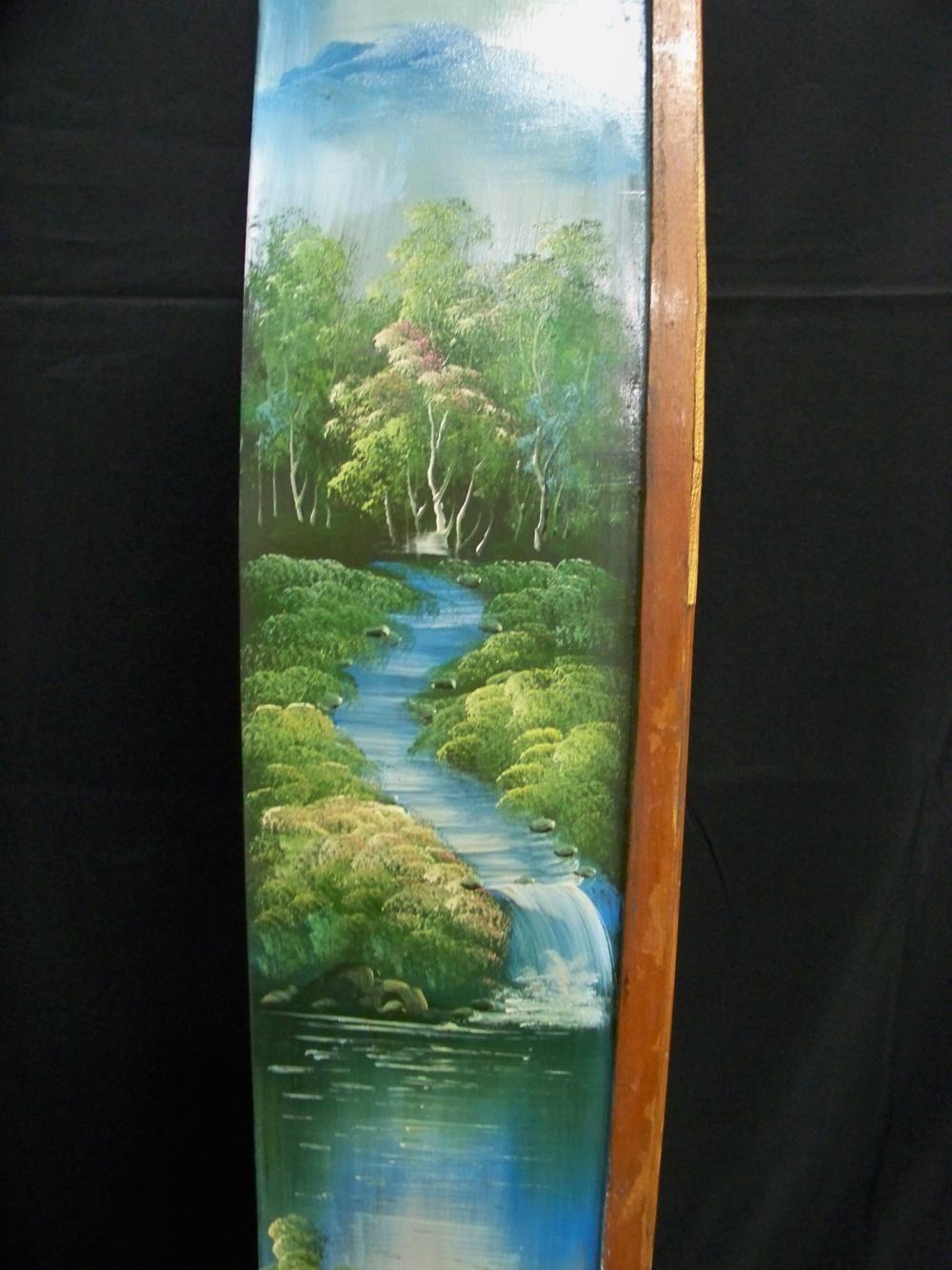 Decorative Painted Wooden Row Boat Bookshelf