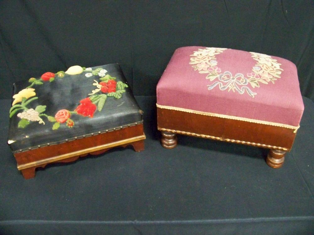 Two Antique Footstools