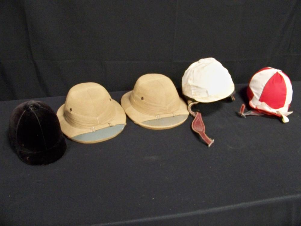 Group of Five Equestrian Hats