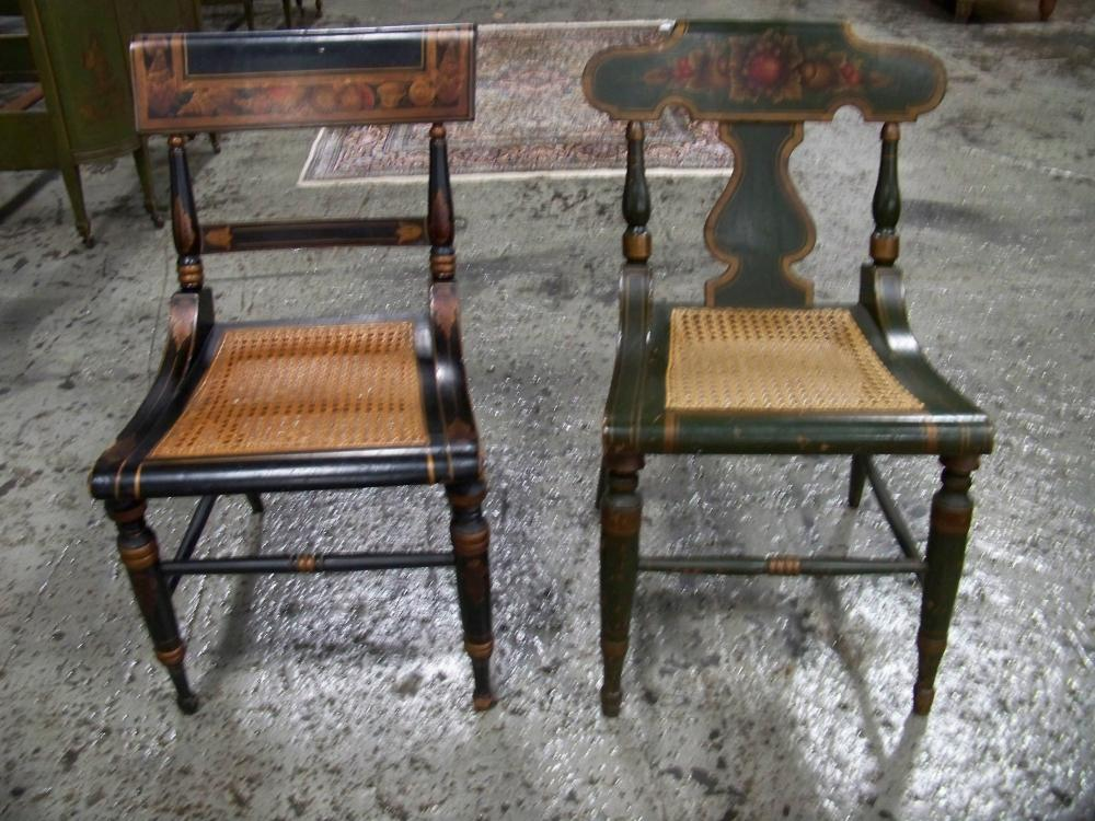 Two Painted Chairs