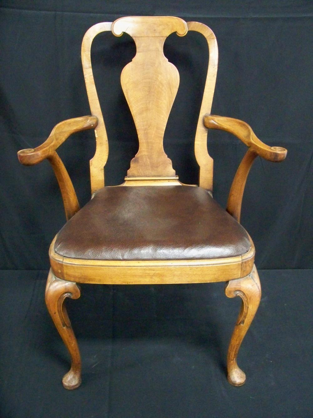 Single Walnut Arm Chair