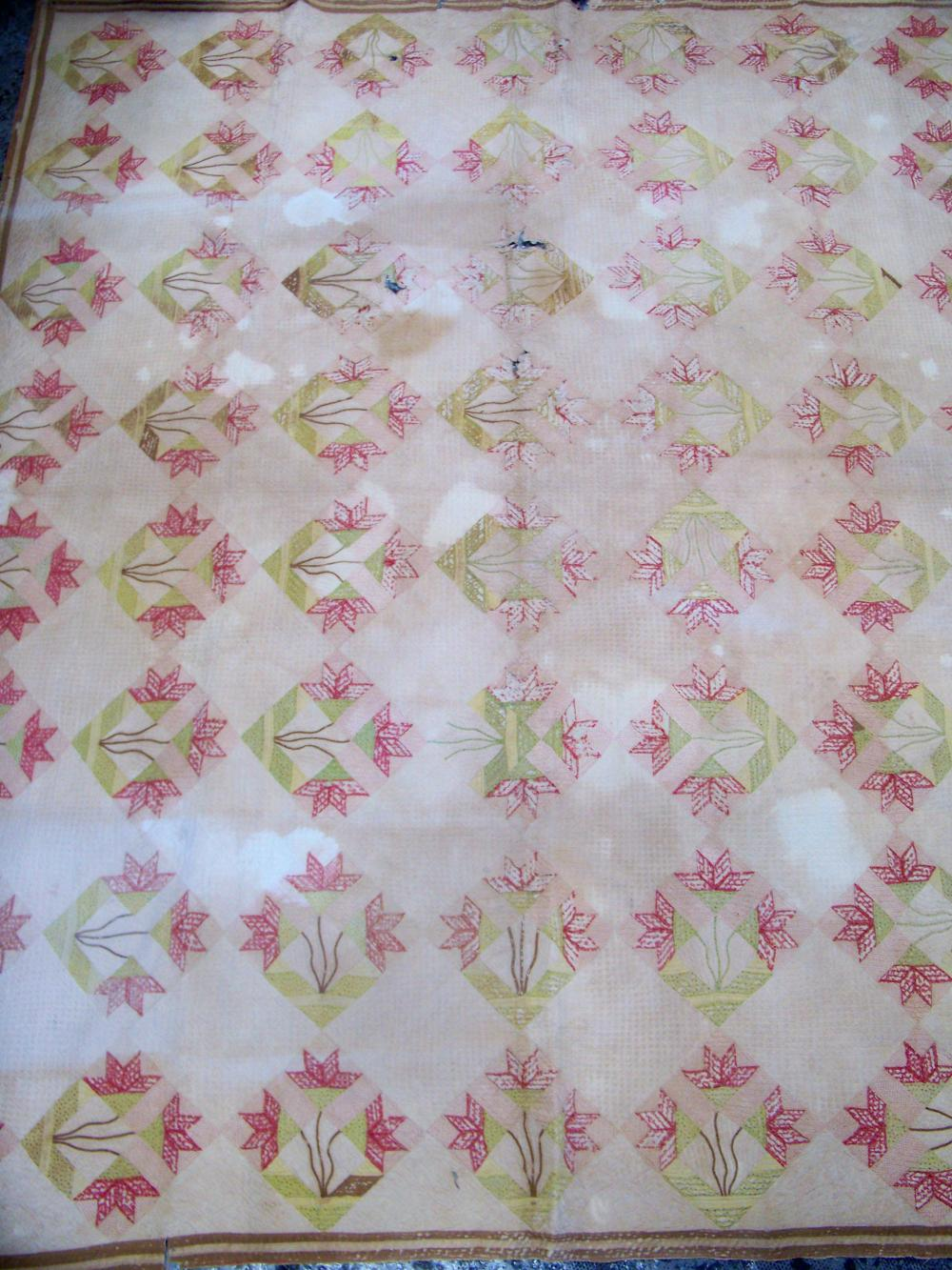 Antique Quilt Dated Circa 1840