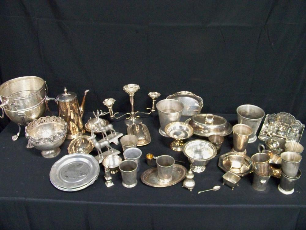 Very Large Lot of Miscellaneous Silverplated Items