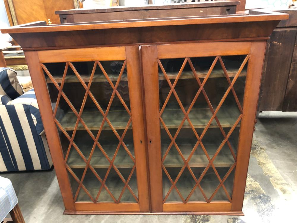Antique Butlers Chest with Bookcase Top
