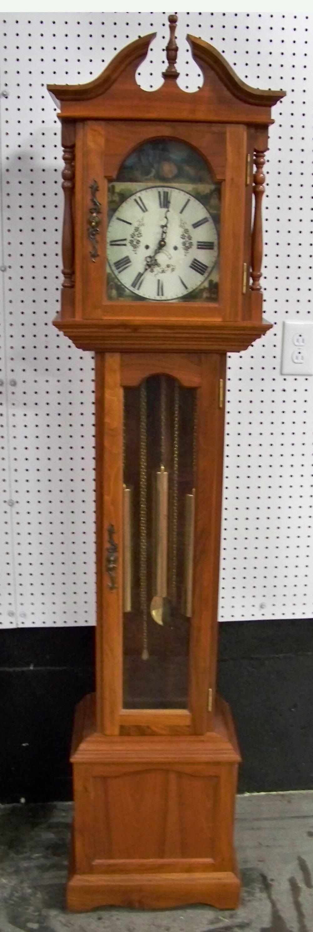 Walnut Cased Grandfather Clock