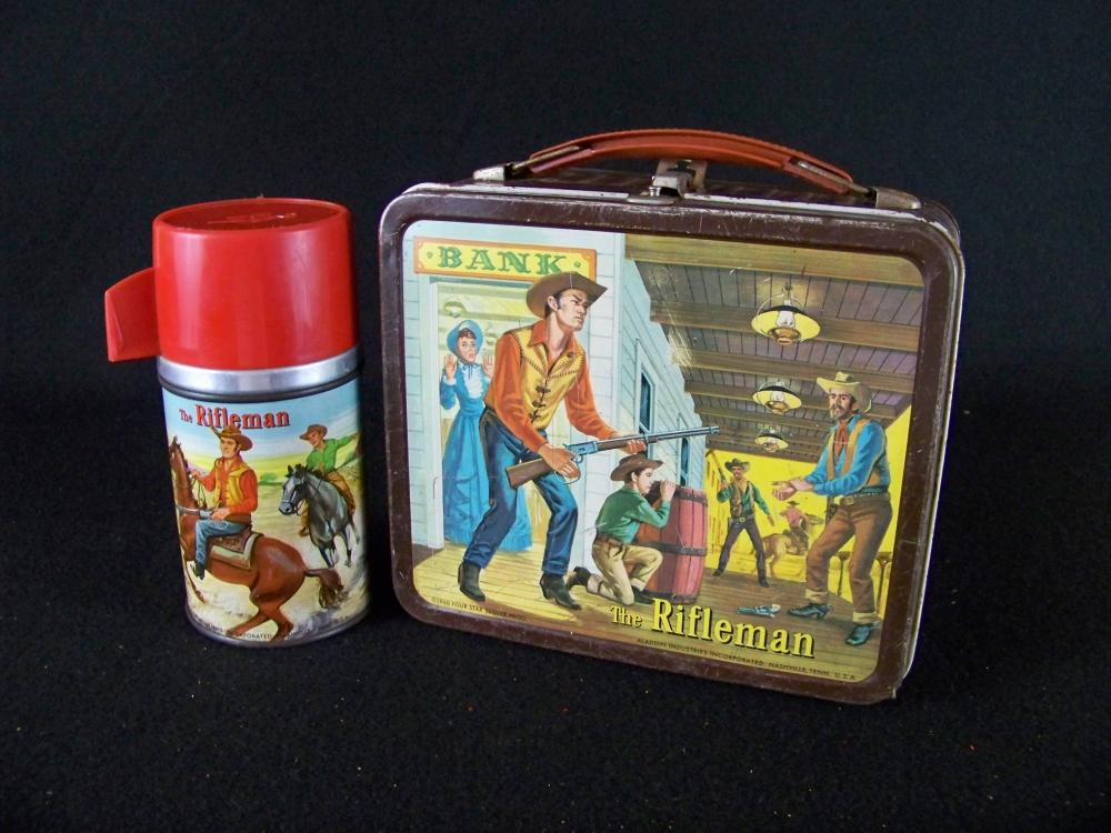 Aladdin 1960 The Rifleman Lunchbox and Thermos