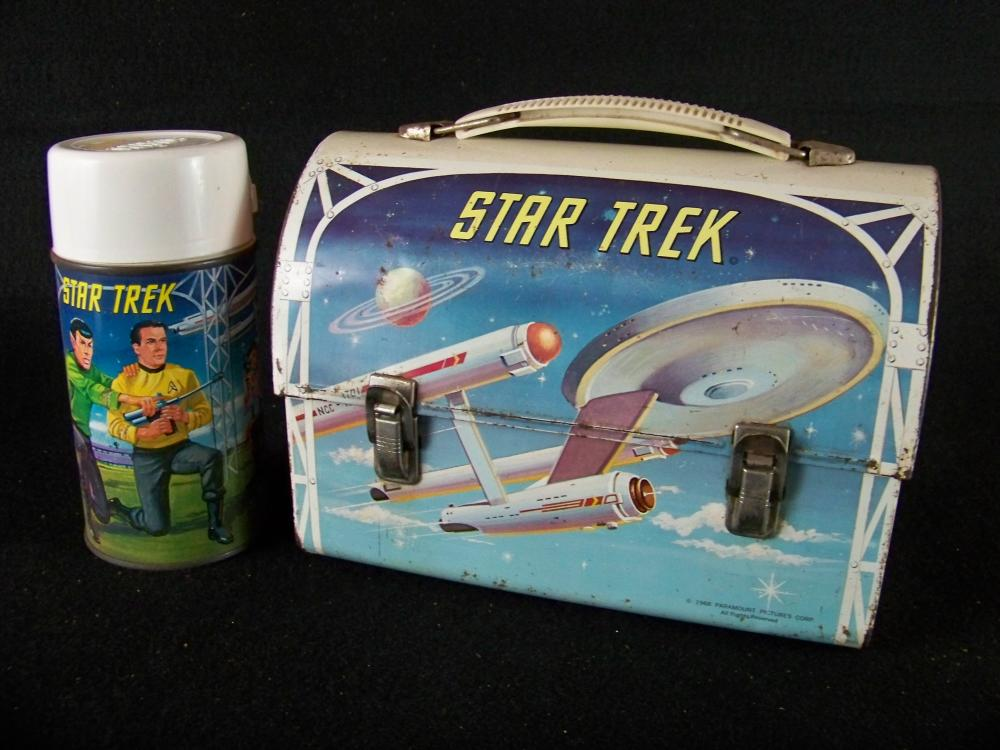 1968 Aladdin Star Trek Domed Lunchbox with Thermos