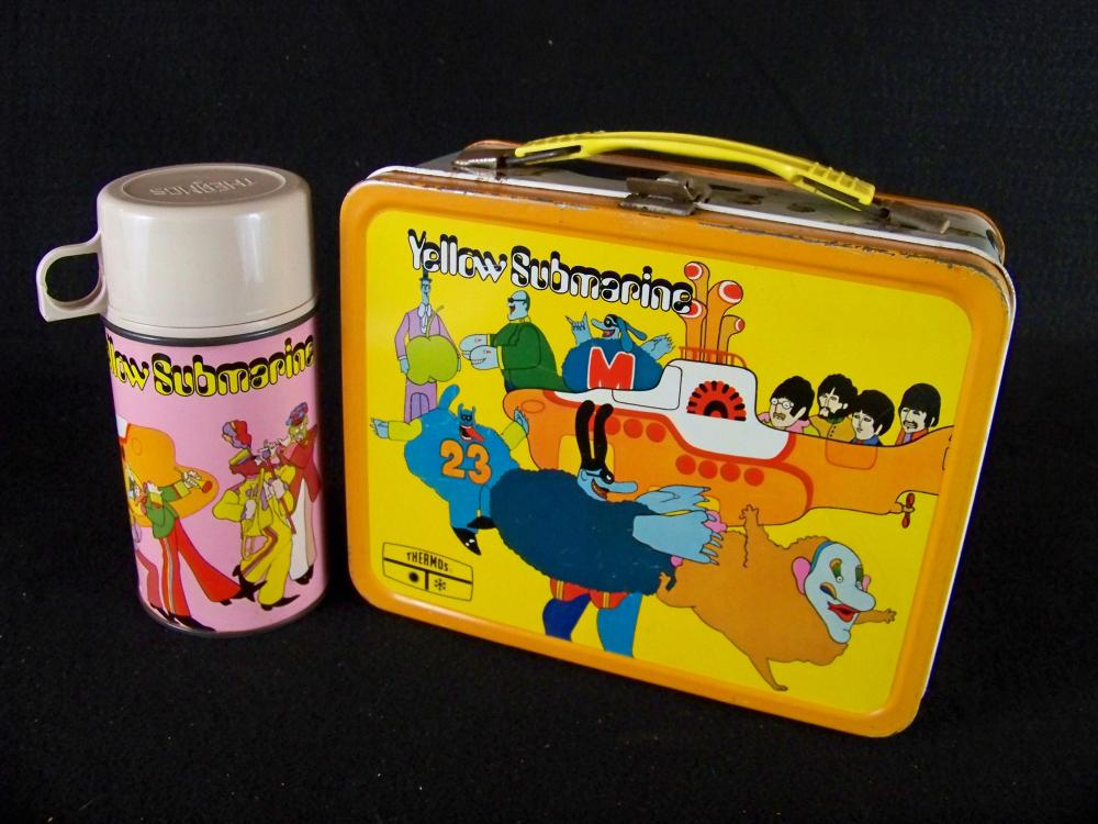 King Seeley 1968 Yellow Submarine Lunchbox with Thermos