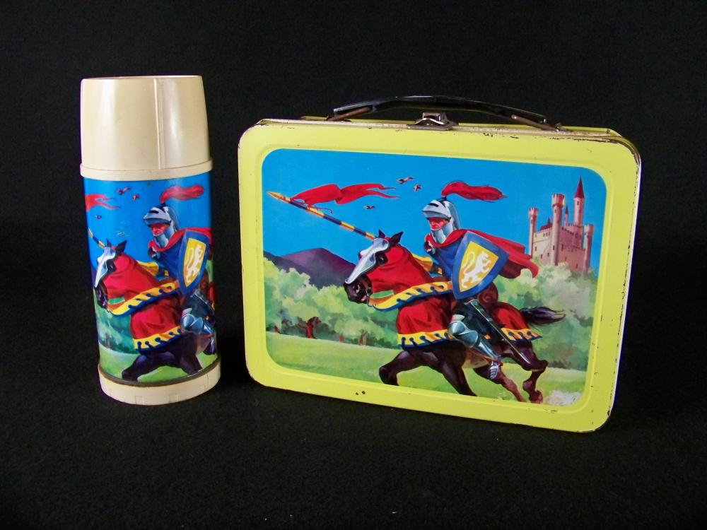 Universal 1959 Knight in Armor Lunchbox and Thermos