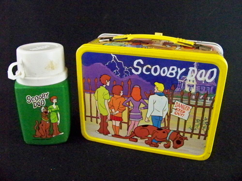 1973 Scooby Doo Lunchbox with Thermos- Yellow Trim