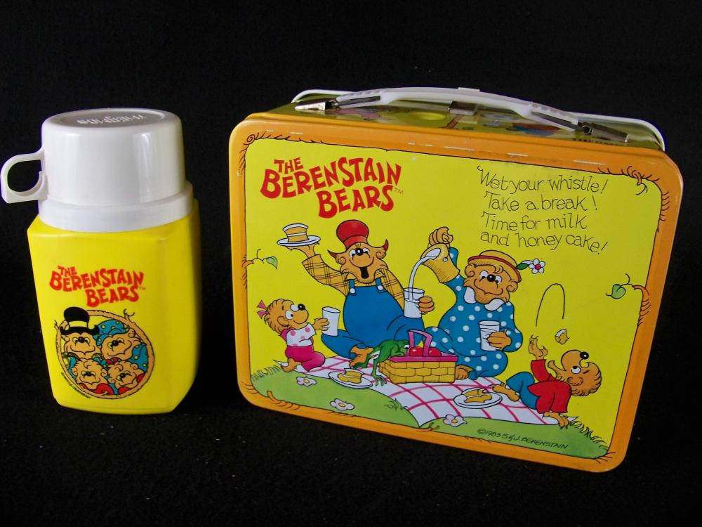 Excellent 1983 Berenstain Bears Lunch Box with Thermos