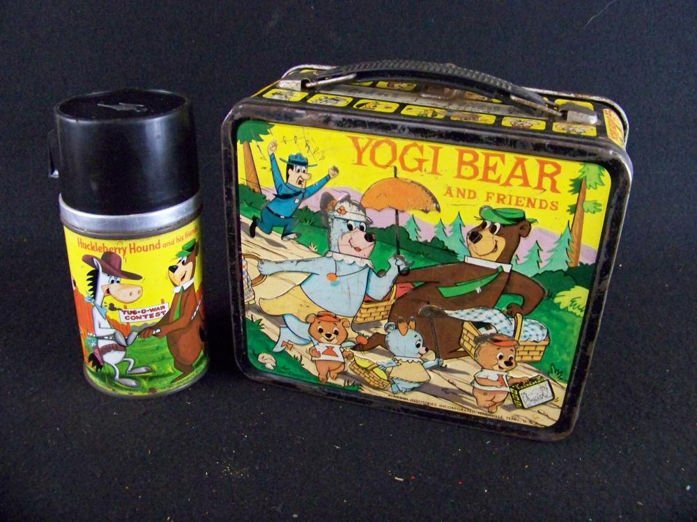 Early 60's Yogi Bear and Friends Lunchbox with Thermos