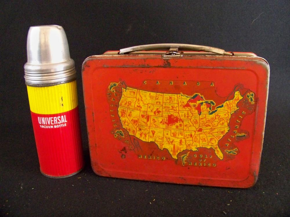 1954 All American Lunchbox with Thermos