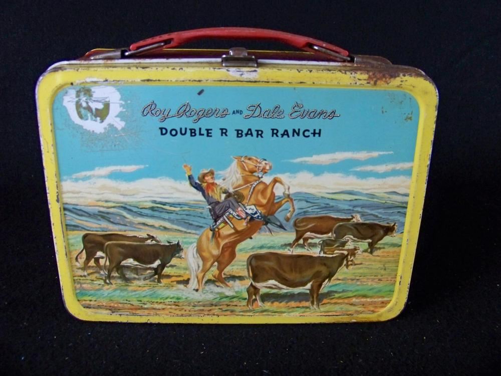 Roy Rogers and Dale Evans 50's Lunchbox with Red Sides