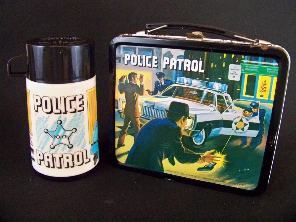 Aladdin 1978 Police Patrol Lunch Box and Thermos