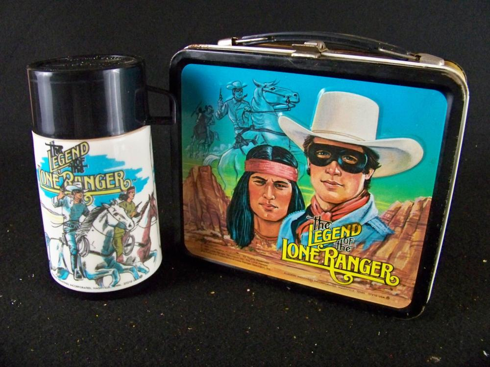 Aladdin 1980 Legend of the Lone Ranger Lunchbox with Thermos