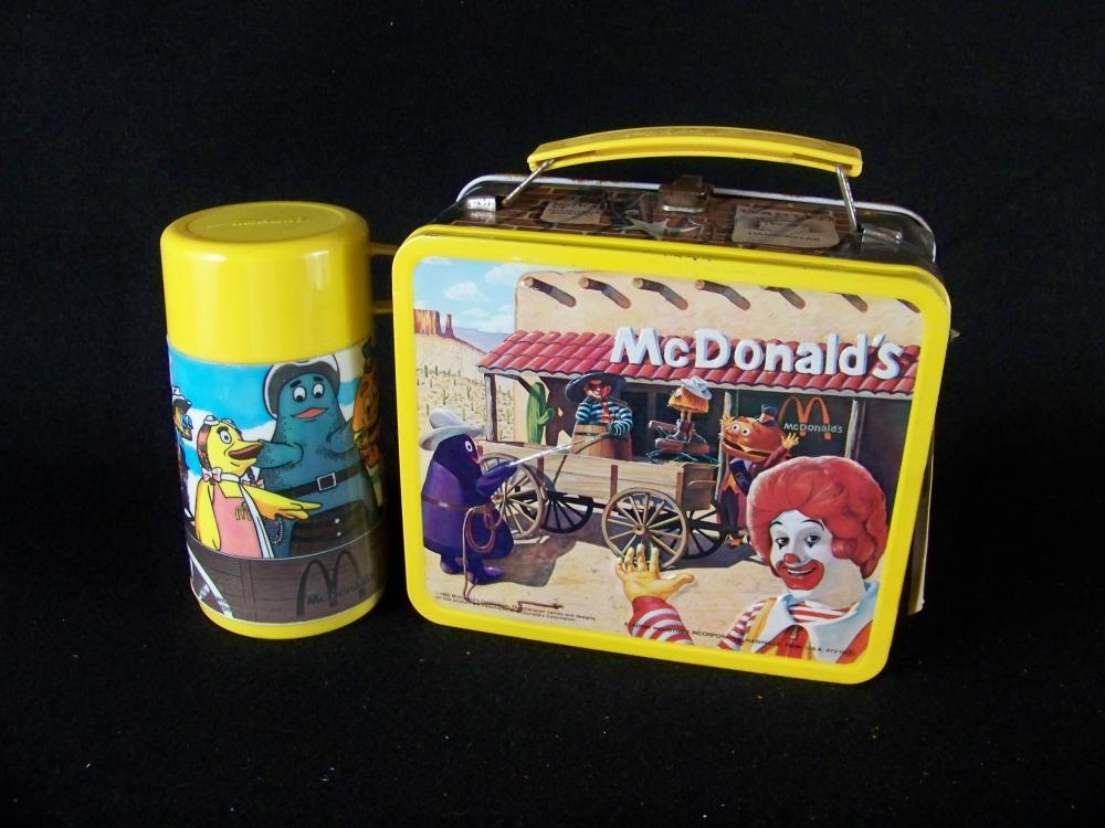 1982 McDonalds Lunchbox with Thermos with Tag
