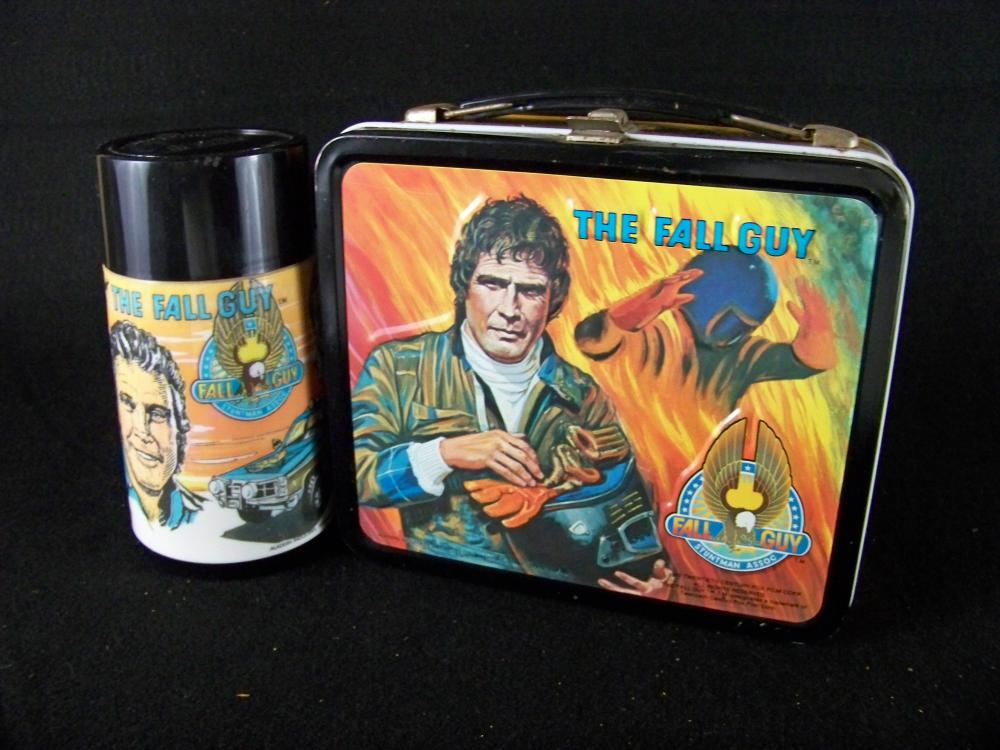 1981 Aladdin The Fall Guy Lunchbox with Thermos