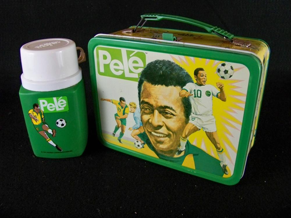 King Seeley 1975 Pele Lunchbox with Thermos