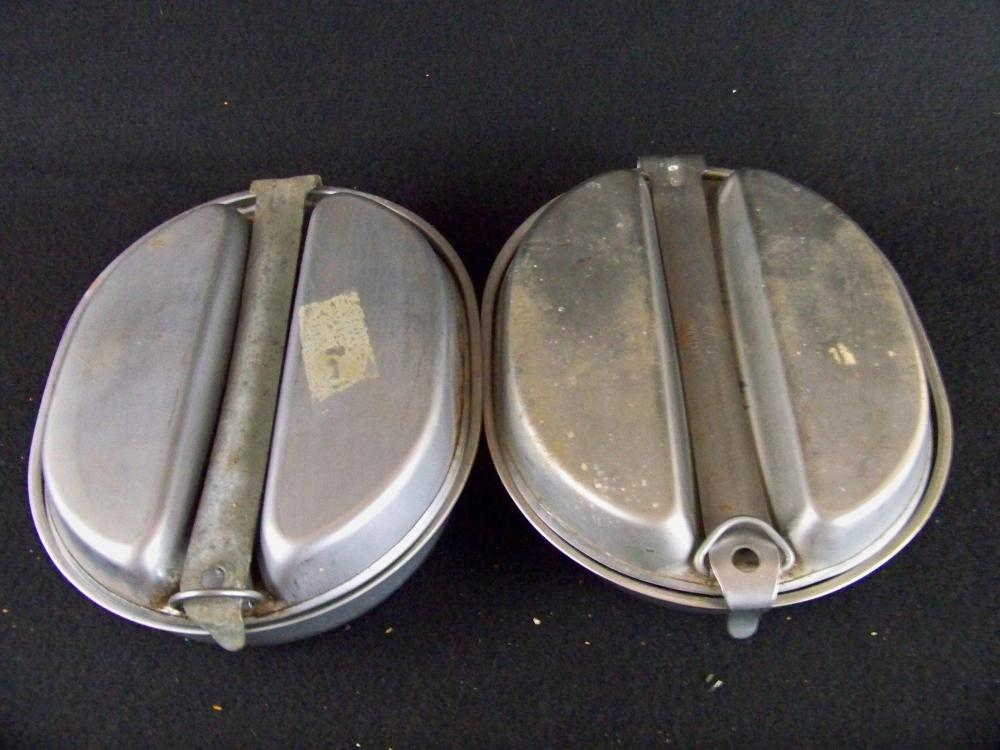 Pair of US Army WWII Mess Kits