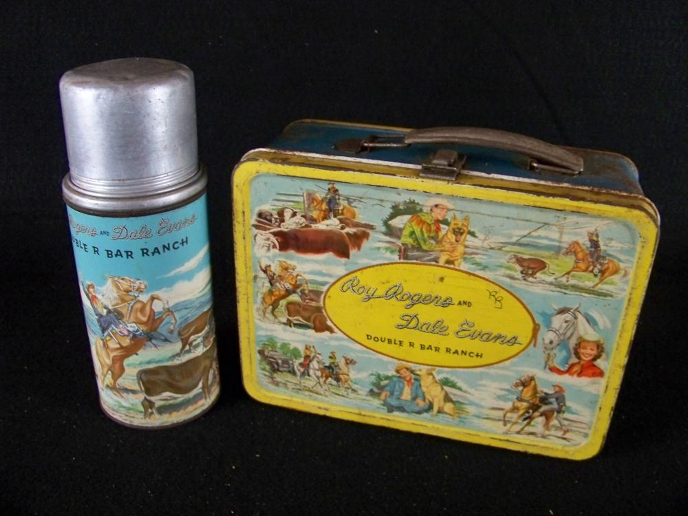 Roy Rogers and Dale Evans 50's Lunchbox with Thermos