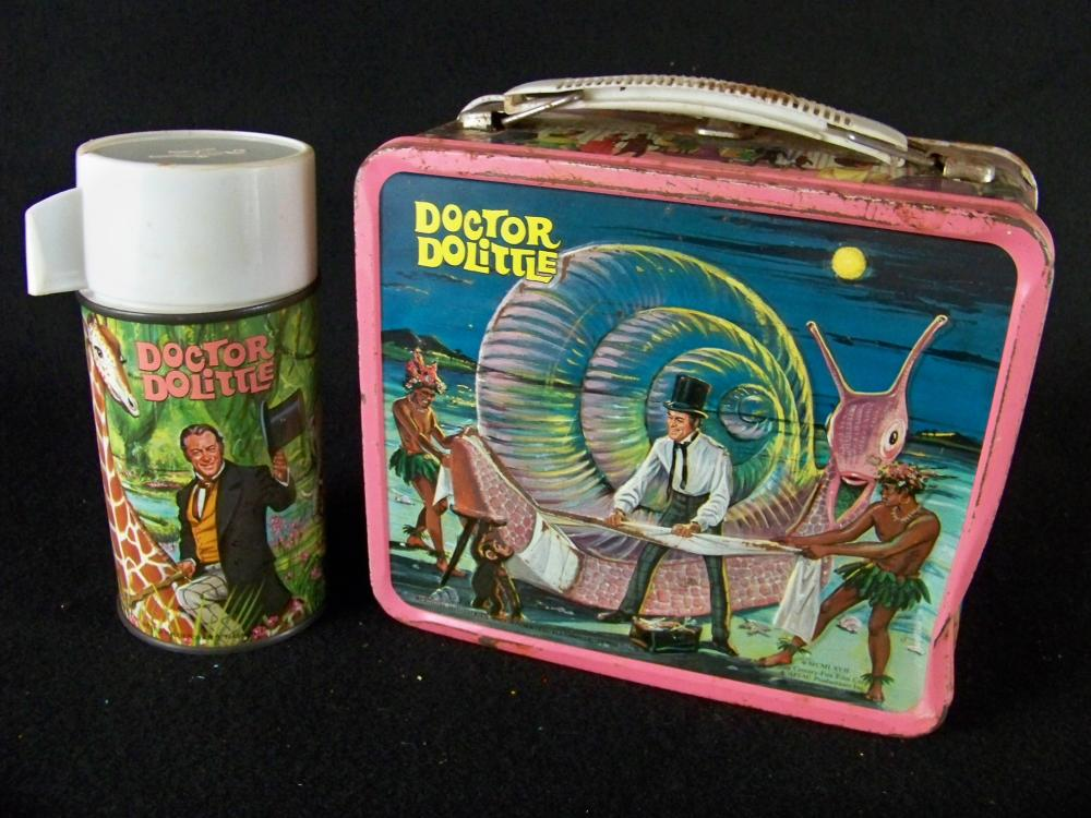 1967 Dr. Doolittle Thermos with Damaged Lunchbox