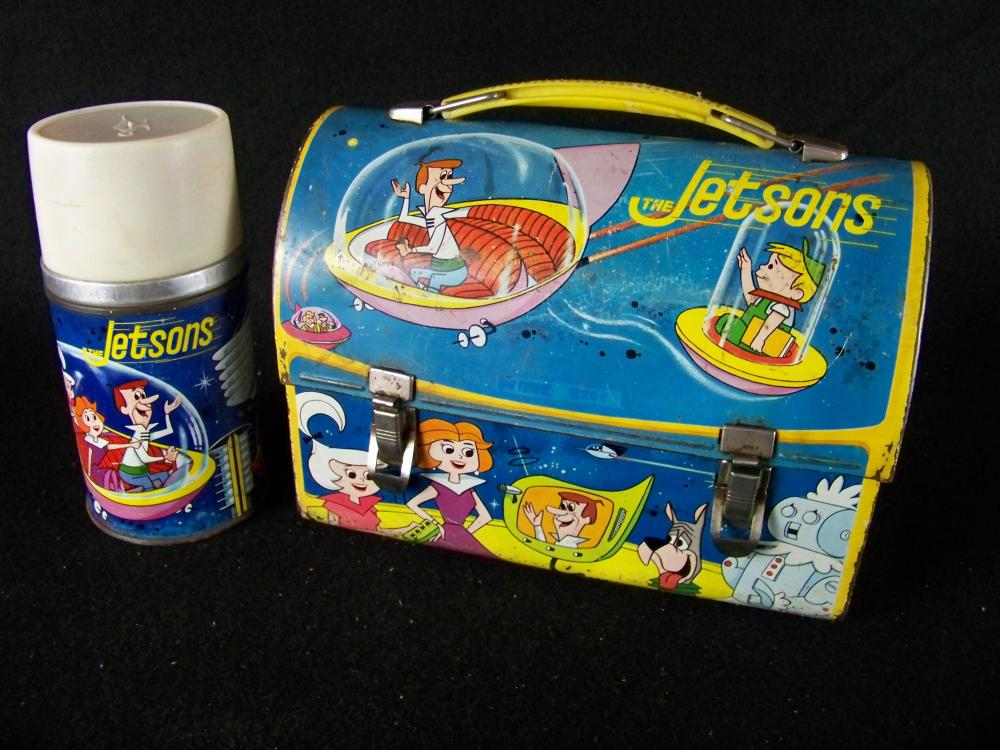 Aladdin 1963 Jetsons Domed Lunch Box with Thermos