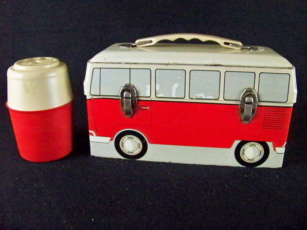60's VW Bus Lunchbox with Thermos
