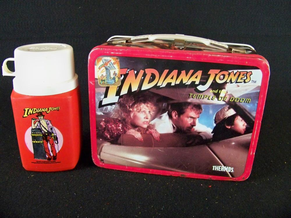 1984 Indiana Jones Temple of Doom Lunchbox with Thermos