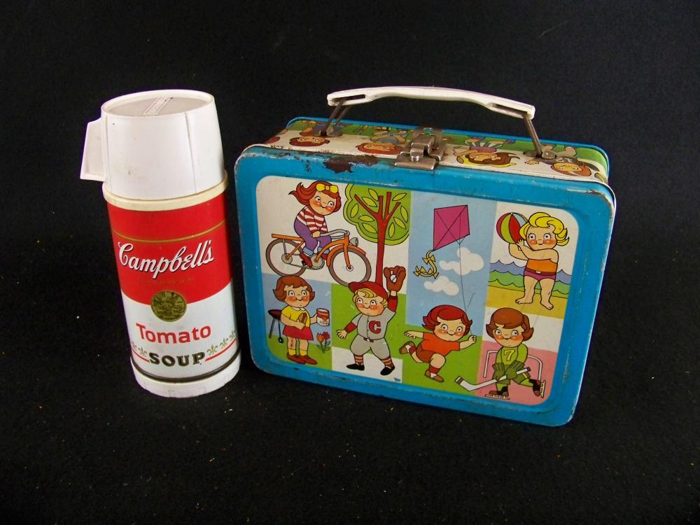 Campbell's Kids Lunch Box with 1968 Thermos