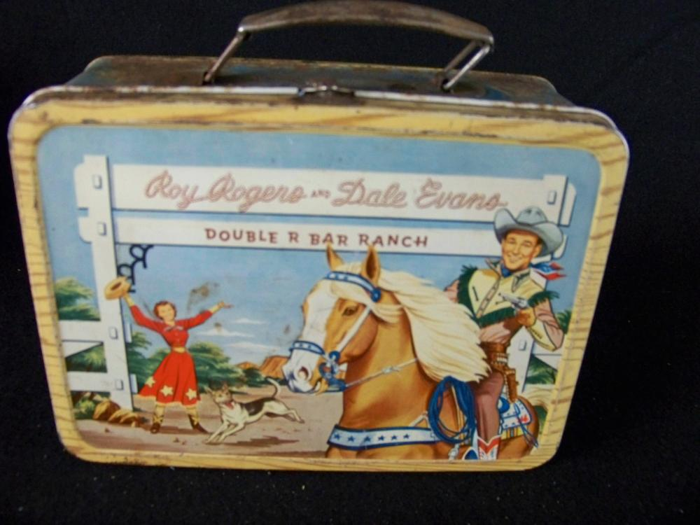 50's Roy Rogers and Dale Evans Lunchbox with Blue Sides