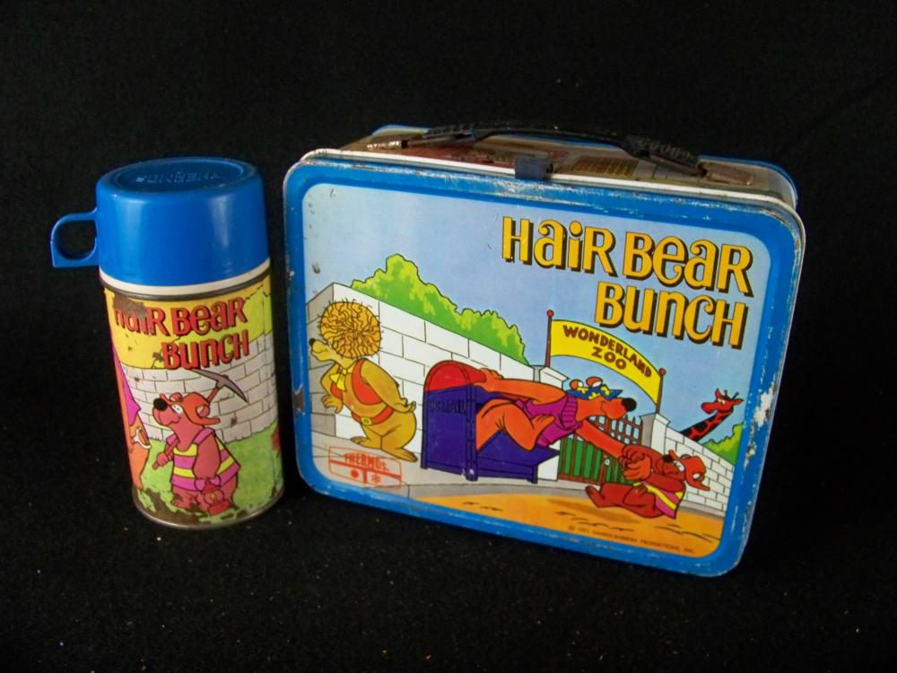 1971 Hair Bear Bunch Lunchbox with Thermos