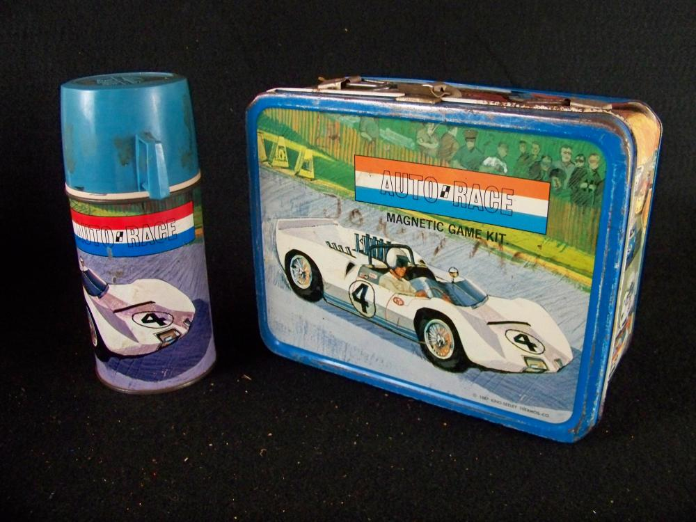 1967 King Seeley Auto Race Lunchbox and Thermos