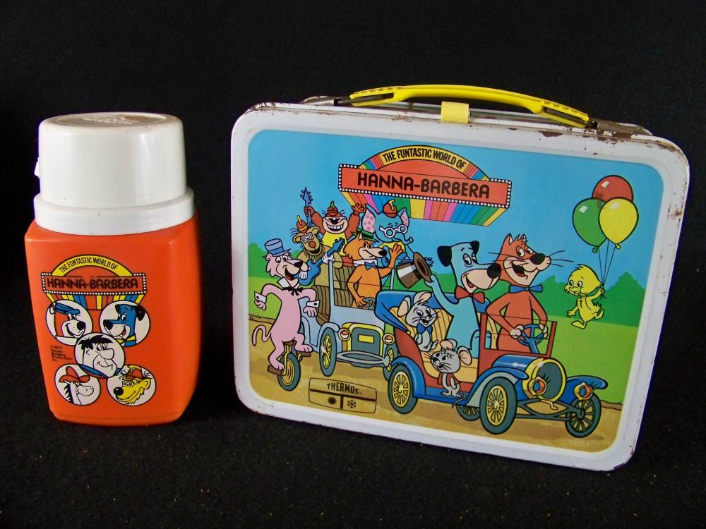 1977 Funtastic World of Hanna-Barbera Lunchbox with Thermos