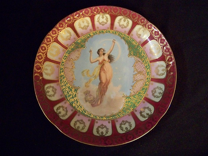 Vienna Porcelain Handpainted Plate