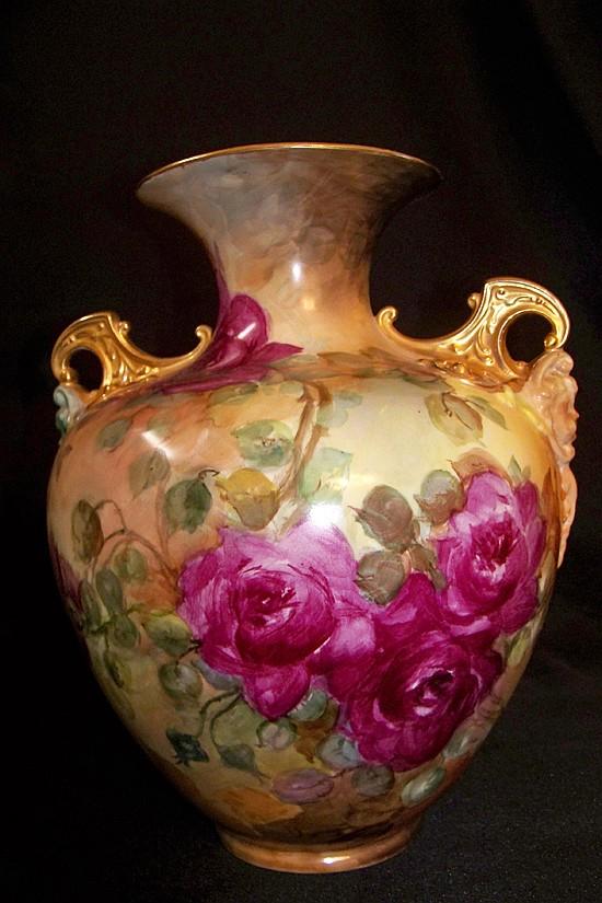 Royal Bayreuth Handpainted Porcelain Vase