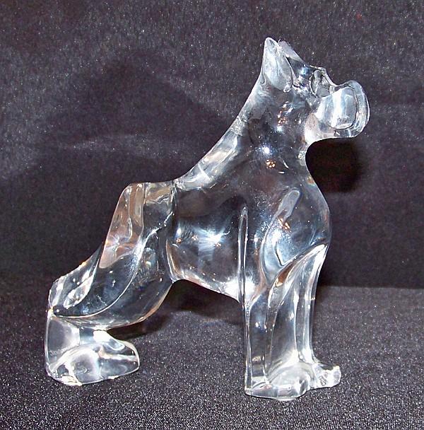 Baccarat Glass Boxer