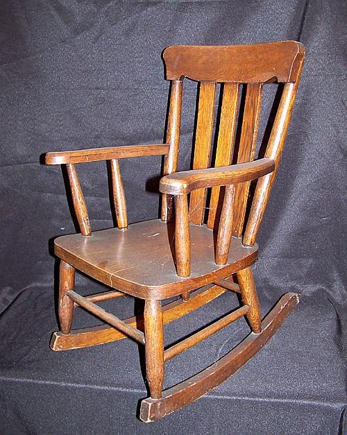 Oak Child's Armchair Rocker