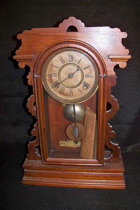 Ansonia Shelf Clock in Walnut Case