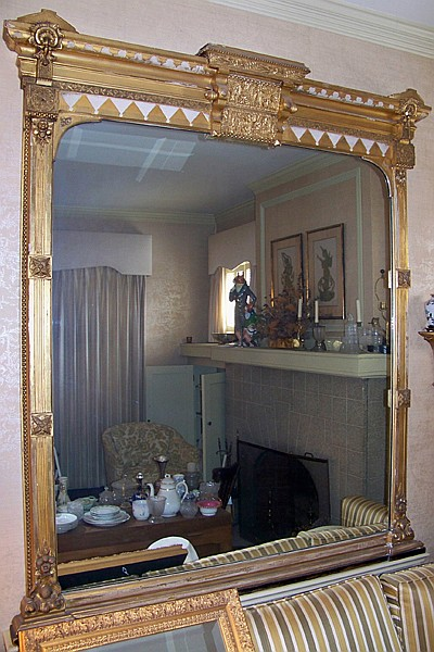 Gilt and Gesso Overmantle Mirror