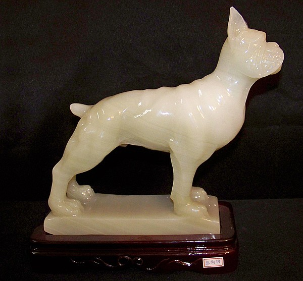 Magnificent Onyx Boxer Figurine Purchased in Taiwan